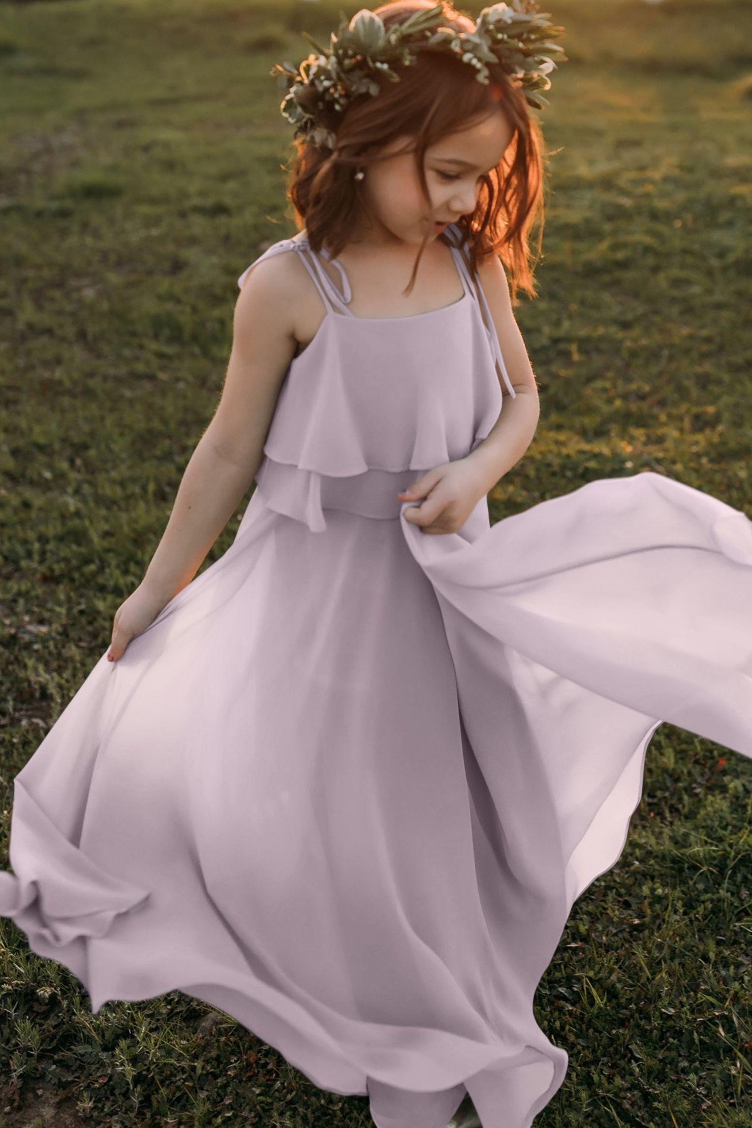 Penny Sweet Pea Bohemian Chiffon Flower Girl Dress