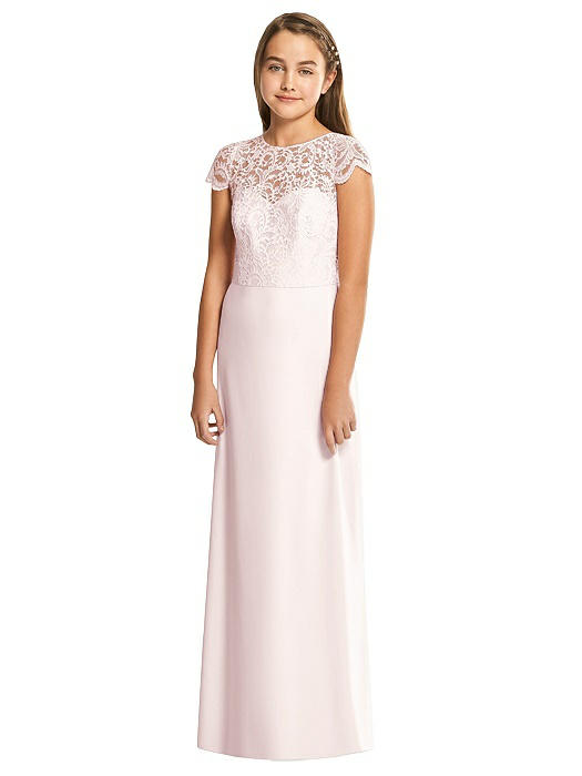Blush Marquis Lace Junior Bridesmaids Dress