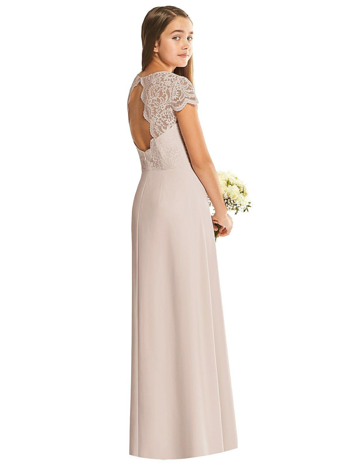 Cameo Marquis Lace Junior Bridesmaids Dress