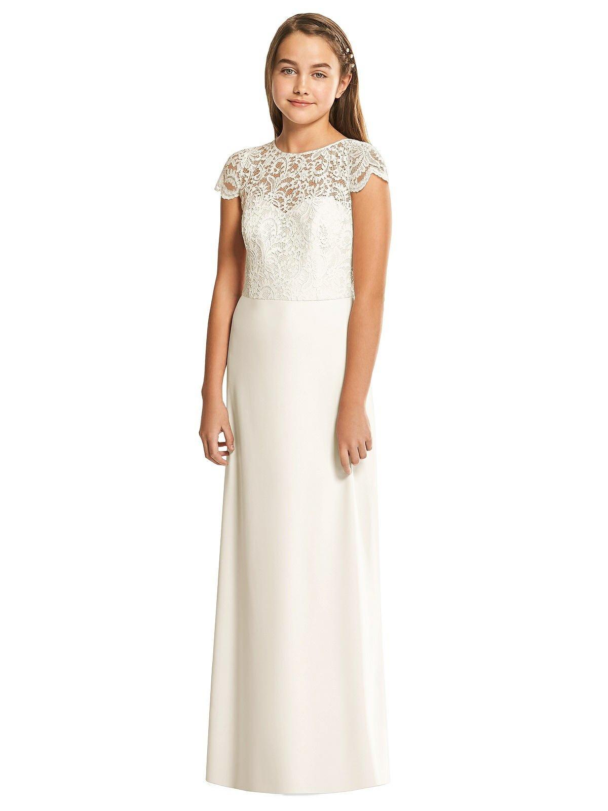 Ivory Marquis Lace Junior Bridesmaids Dress