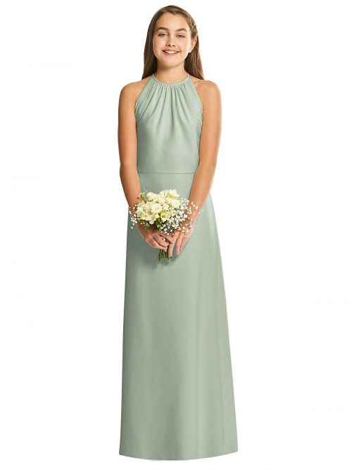 Willow Halter Crepe Junior Bridesmaids Dress