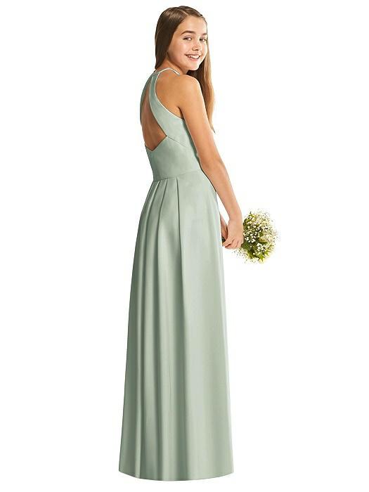 Willow Halter Crepe Junior Bridesmaids Dress